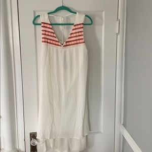NWT White, High low dress!